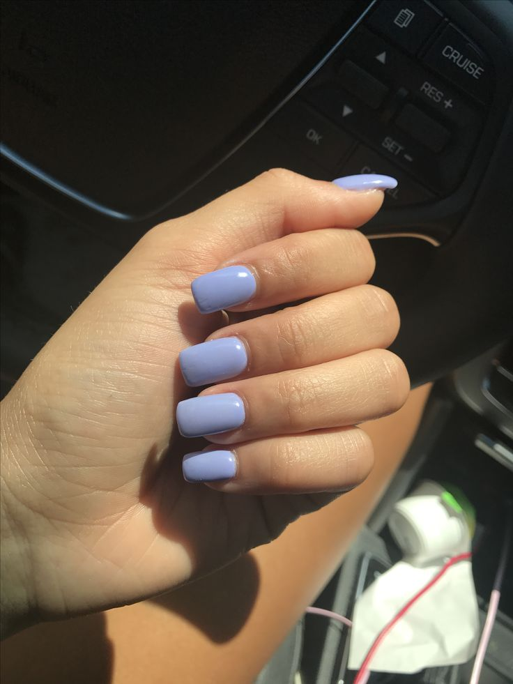 Purple Nails Square Nails Gel Nails With Images Squoval Nails Purple Nails Squoval Acrylic
