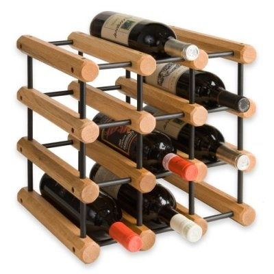12 Bottle Wine Storage Racks Our 12 Bottle Wine Storage Racks have sold in the millions. They�ll fit into virtually any space � and are infinitely expandable. Each 12 Bottle Wine Storage Racks kit comes packed with enough extra joining pins to allow you to add on another rack in the future and another