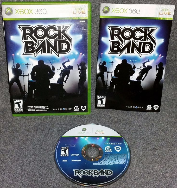 Rock Band (Microsoft Xbox 360, 2007) Music Instruments Jam Out Friends Sing Drum