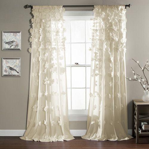 Lush Decor Riley Light-filtering Single Curtain Panel