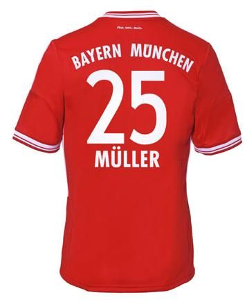 Maillot de Foot Bayern Munich (25 Muller) Domicile Adidas Collection 2013 2014 rouge Pas Cher http://www.korsel.net/maillot-de-foot-bayern-munich-25-muller-domicile-adidas-collection-2013-2014-rouge-pas-cher-p-2226.html