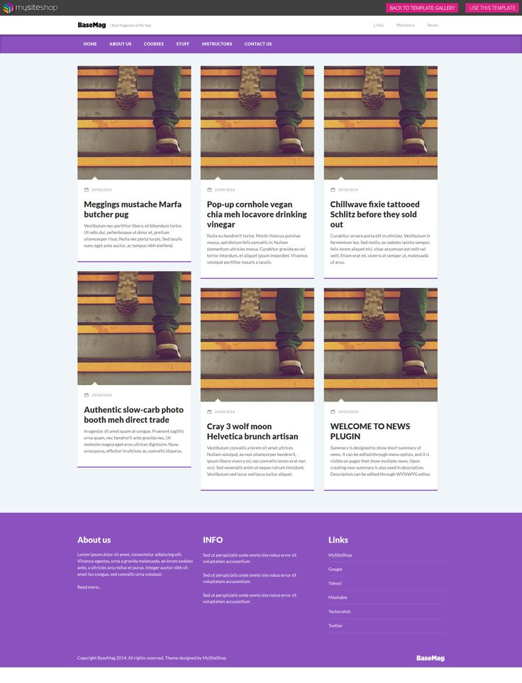 Check out our Basemag template! It's perfect for any business. #responsive #webdesign #webdevelopment #website #newsfeature