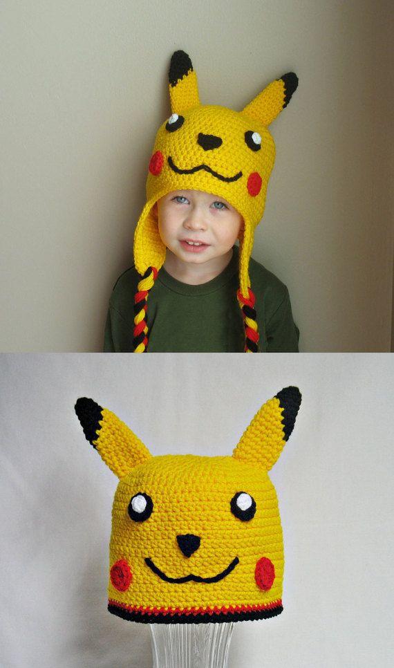 Pikachu Hat Kids Pikachu Hat Newborn Pikachu by DeesCozyCreations