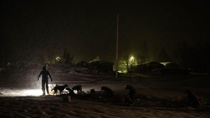 Larry Daugherty prepares to leave the Nikolai checkpoint on Tuesday. (Loren Holmes / ADN)