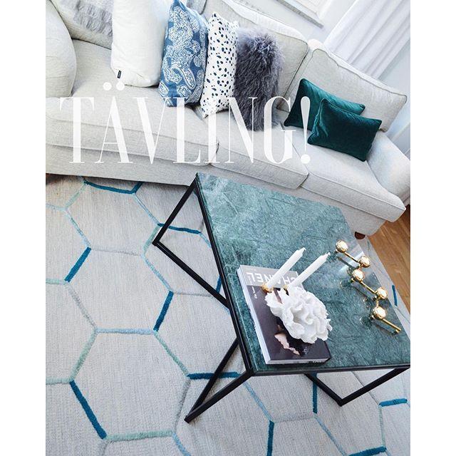 Tävlingsdags!! ✨ Utlottning av detta magiska bord med grön marmor och stålunderrede i svart. Måttet - interiorbynicole