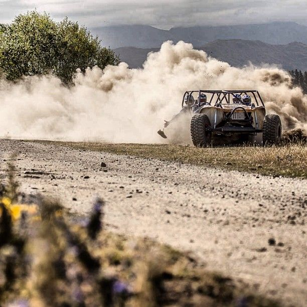 Dusty fun & a missing shoe with the @redbullnz crew at #oxbow lodge by @ben_brown_
