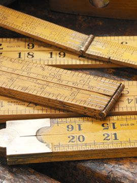 Wooden rulers - we've used these to dress a wall for our Art of Understanding trend.