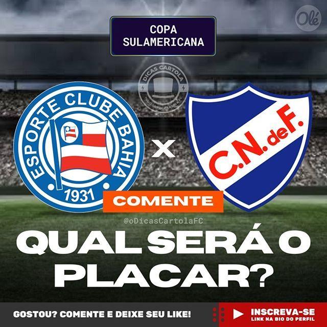 Hoje Tem Bahia Na Copa Sulamericana Comente Qual Sera O Placar De Bahia X Nacional Do Uruguai Futebol Nacional Do Uruguai Sobre Futebol Futebol Brasileiro
