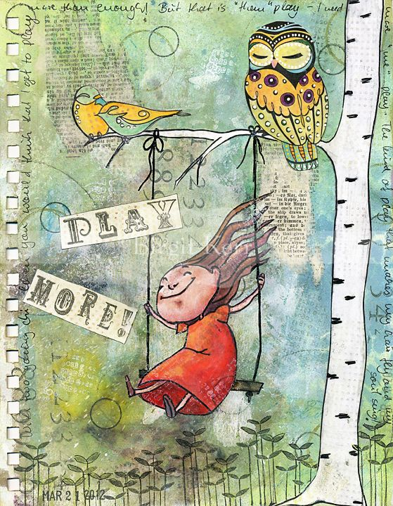 Birgits Daily Bytes: Art Journaling- cool tutorial showing an easy, quick way to transfer (portions or all) of text or another image onto your page with modge podge :)