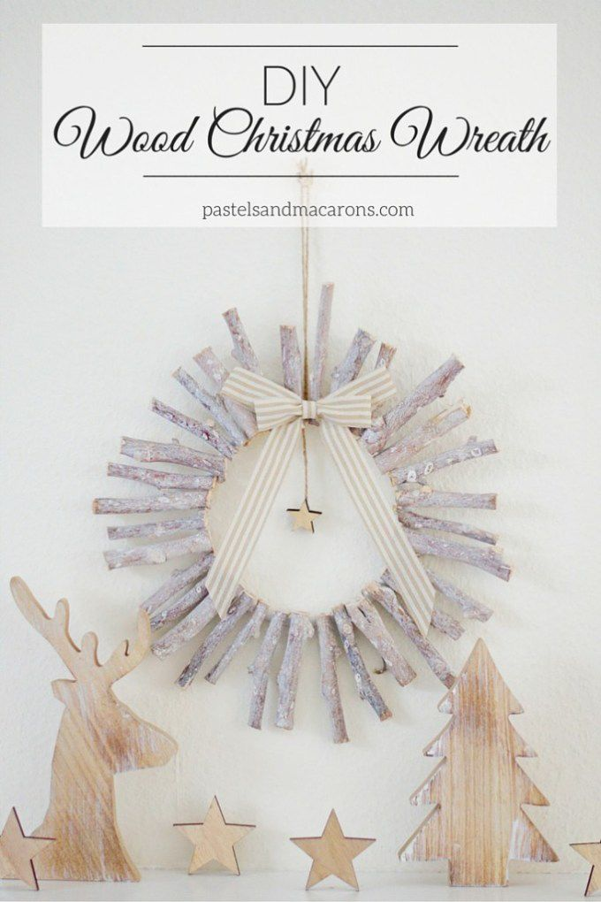 This lovely DIY Wood Christmas Wreath is not only beautiful, but it's so simple to make!: