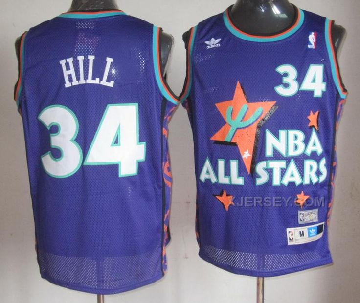 http://www.xjersey.com/all-star-34-hill-purple-1995-mn-jerseys.html ALL STAR 34 HILL PURPLE 1995 M&N JERSEYS Only $34.00 , Free Shipping!