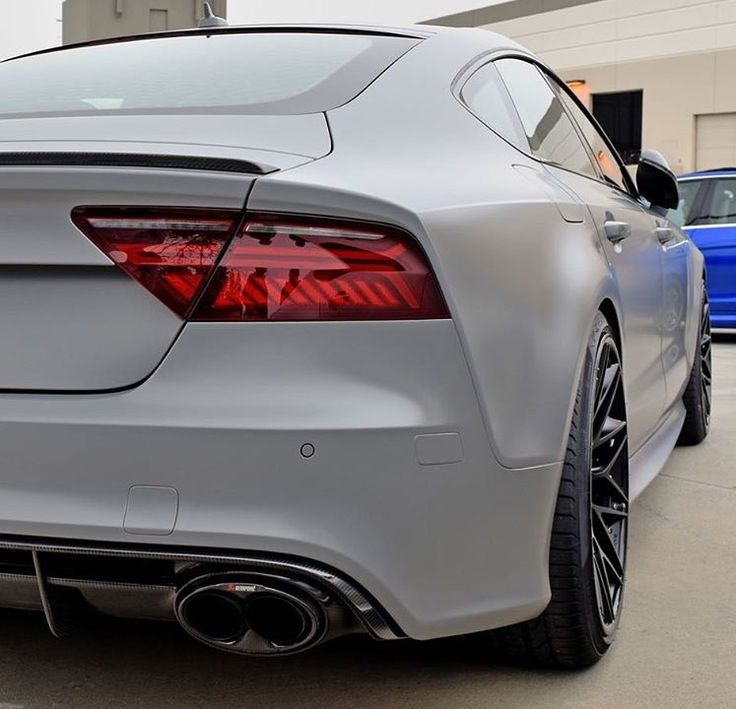 Matte Silver Bentley Awesome: Matte Nardo Grey & Akrapovic Audi RS7