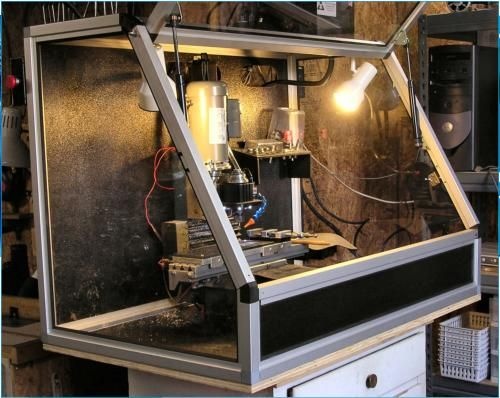 Taig Cnc Mill In Home Made 8020 Enclosure Cnc