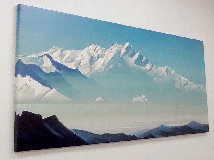 Картина Снежные горы для интерьера