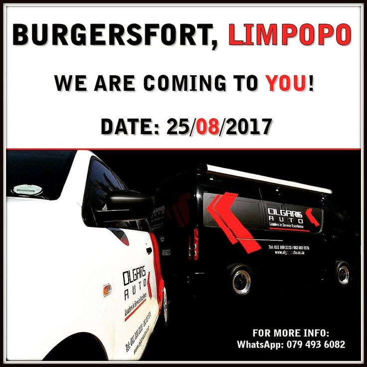We are coming to #Burgersfort tomorrow!