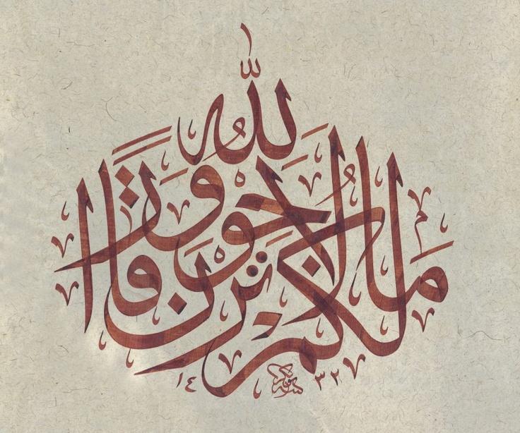 ما لكم لا ترجون لله وقارا Surat NuH, Verse 13 which means Why Do You Deny the Greatness of Allaah?