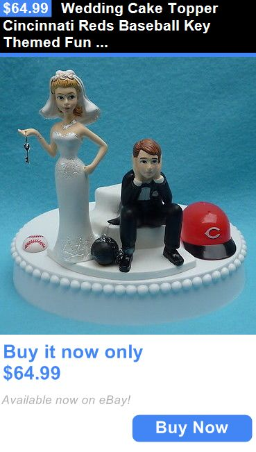 Wedding Cakes Toppers: Wedding Cake Topper Cincinnati Reds Baseball Key Themed Fun Bridal Grooms Top BUY IT NOW ONLY: $64.99