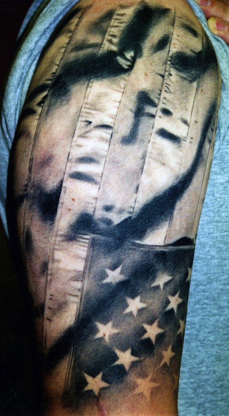 American flag tattoo realistic ar tattoos