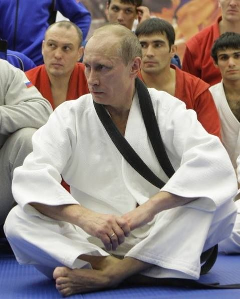 ~ Putin has a black belt in Judo ~ one of his many talents . ~