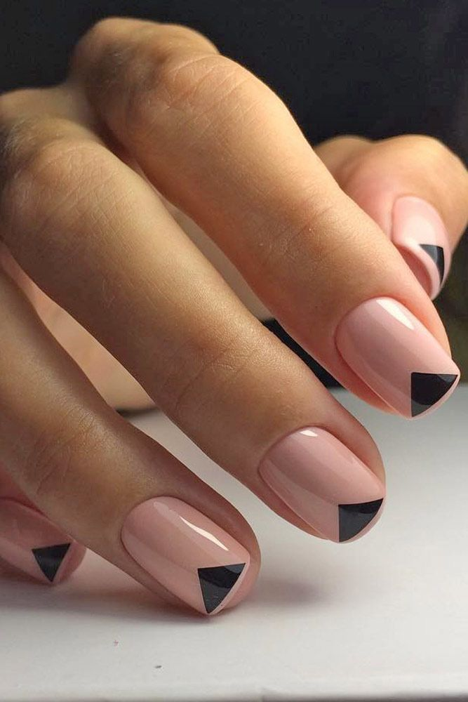 25+ Best Ideas About Black Nail Designs On Pinterest