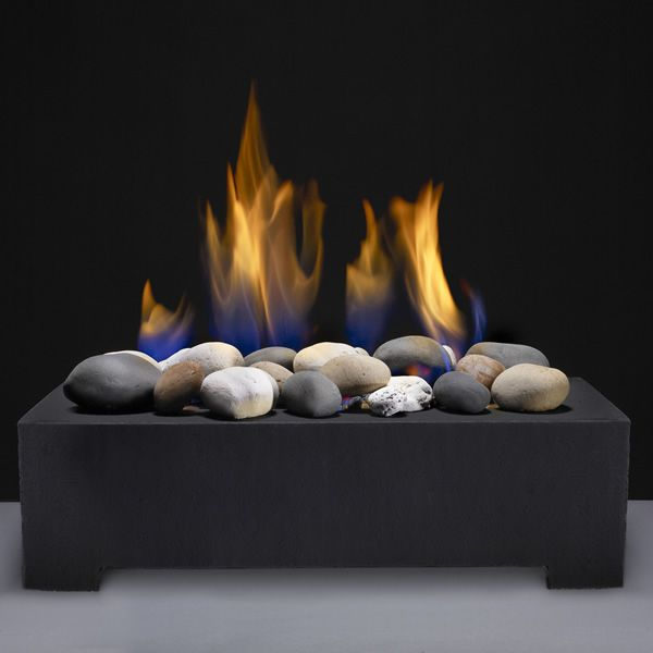 European home black fire rock ceramic vent free system for European home fireplace