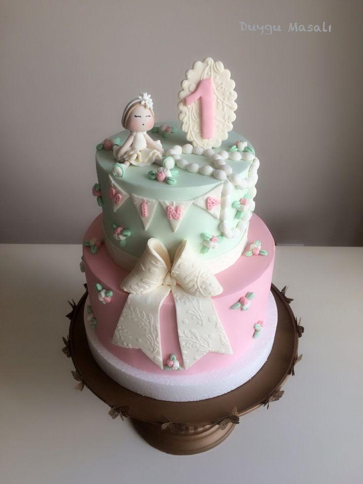 Vintage 1 yaş doğum günü pastası  #duygumasali #edirne #edirnepasta #edirnebutikpasta #sekerhamuru #vintage #vintagecake #1yas #butikpasta #1yasdogumgunu #1yaspastasi www.duygumasali.com
