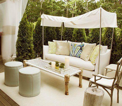 urbane Garten Designs fußboden liege weiß möbel hocker