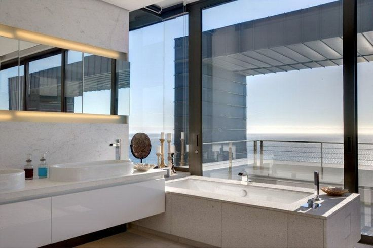 White bathroom With Awesome ViewsOkha Interiors, Dreams, South Africa, Interiors Design, Capes Town, Nettleton199, House, Bathroom, Nettleton 199
