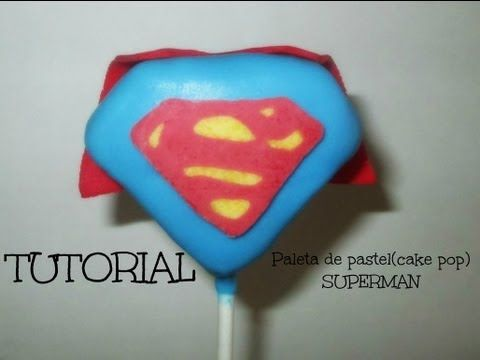Paletas de Pastel De SUPERMAN (CAKE POPS) Tutorial - Madelin's Cakes - YouTube