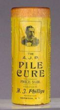 A pile cure (hemorrhoids), before 1906