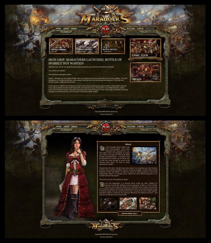 Marauders Game Site Design by karsten on deviantART