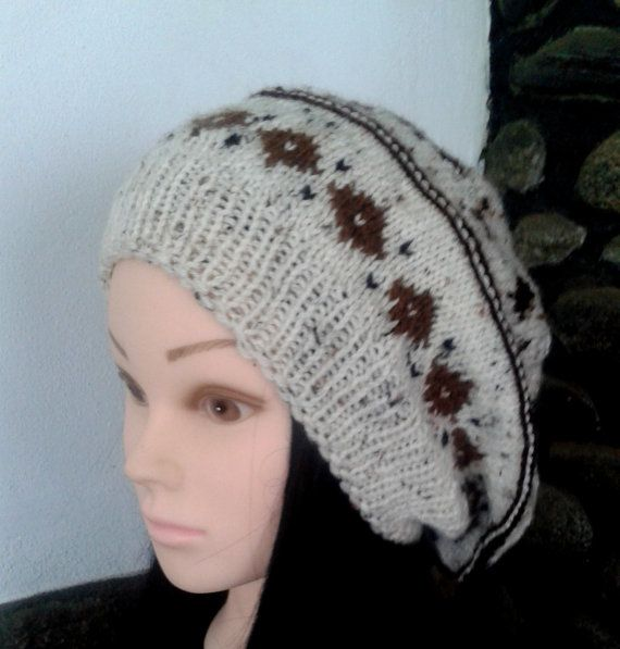 Check out this item in my Etsy shop https://www.etsy.com/listing/252400461/light-grey-brown-pattern-women-knit