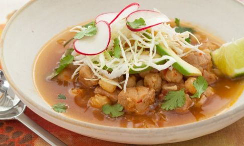 Traditional Mexican posole!