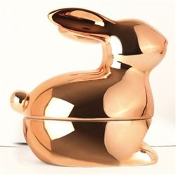 Copper painted rabbit designed by Hans Hallberg for Pluto Produkter at Northlight