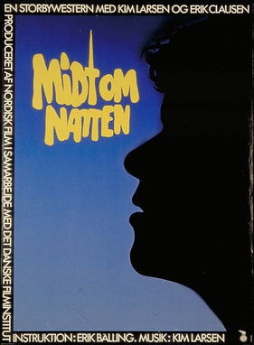 Midt om natten; in the middle of the night. A film about Christiania with music and acting my DK street boy, Kim Larsen.