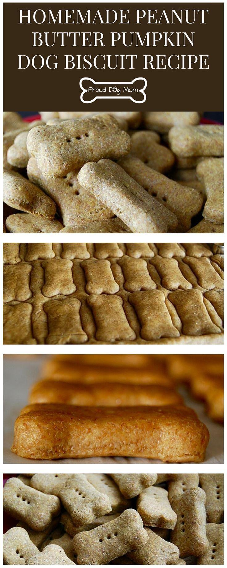 Homemade Peanut Butter Pumpkin Dog Biscuit Recipe | DIY Dog Treats.                                                                                                                                                                                 More