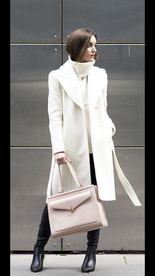 Stitch Fix Fall/Winter Fashion! Sign up today for your subscription box & your own personal stylist for $20! Winter white/Cream wool coat, turtleneck with black skinnys and boots. Classic statement
