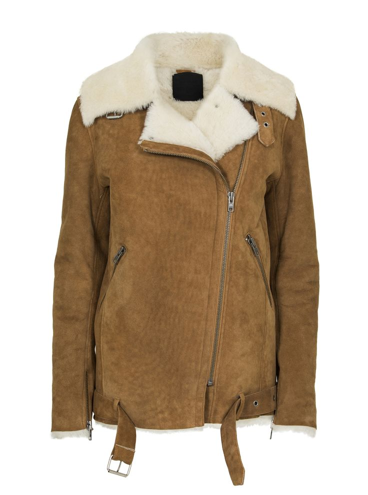 JUST FEMALE AW 2014 // CHIN SHEARLING JACKET CAMEL