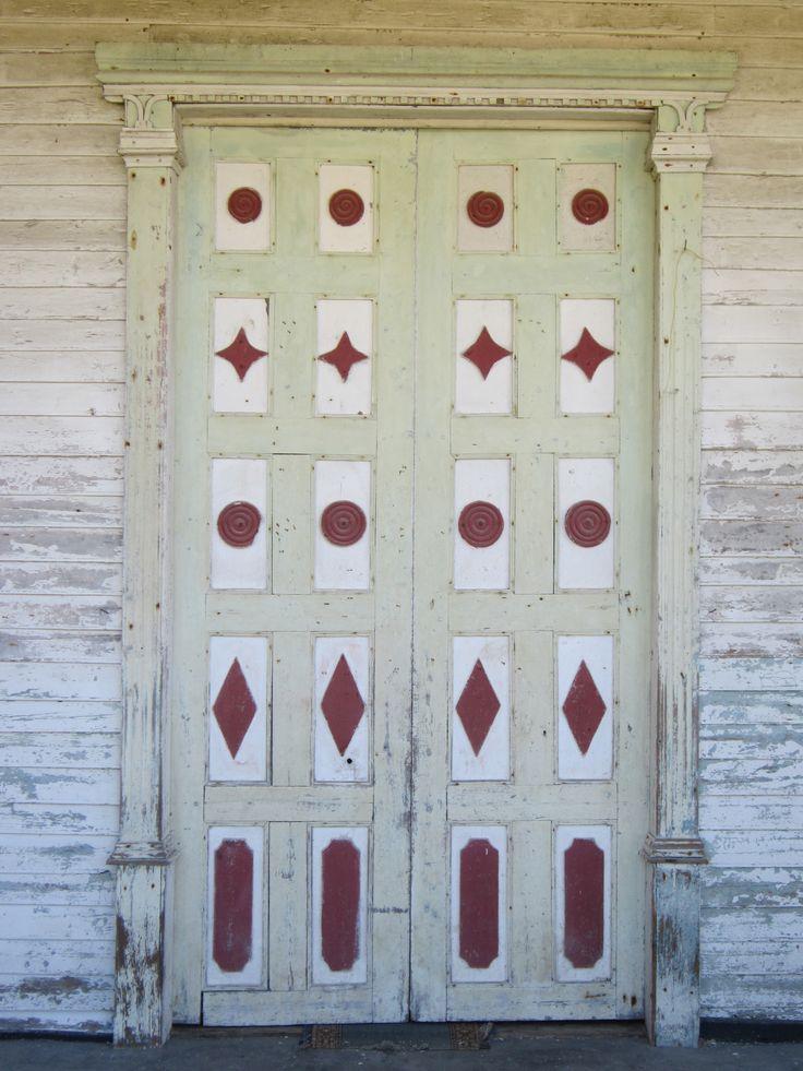 Fabulous old church door, Chiloe