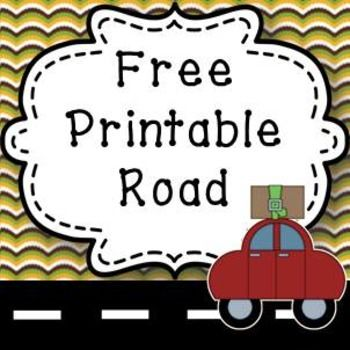 Free Printable Road for creating towns great Geography resource K-3!I created these little printable roads to use in our Geography lessons. Print, laminate and cut the roads (I have included black and white as well as the reverse so you can use which ever options suits your ink requirements).