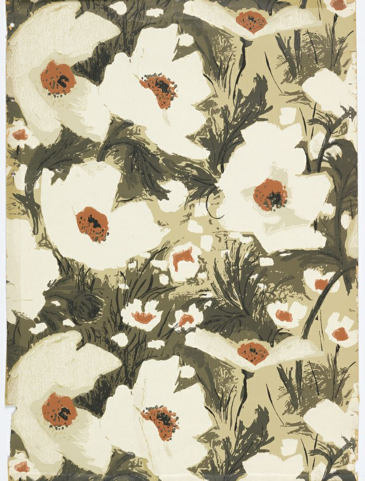 """Sidewall, """"Giant Poppies"""", 1966"""
