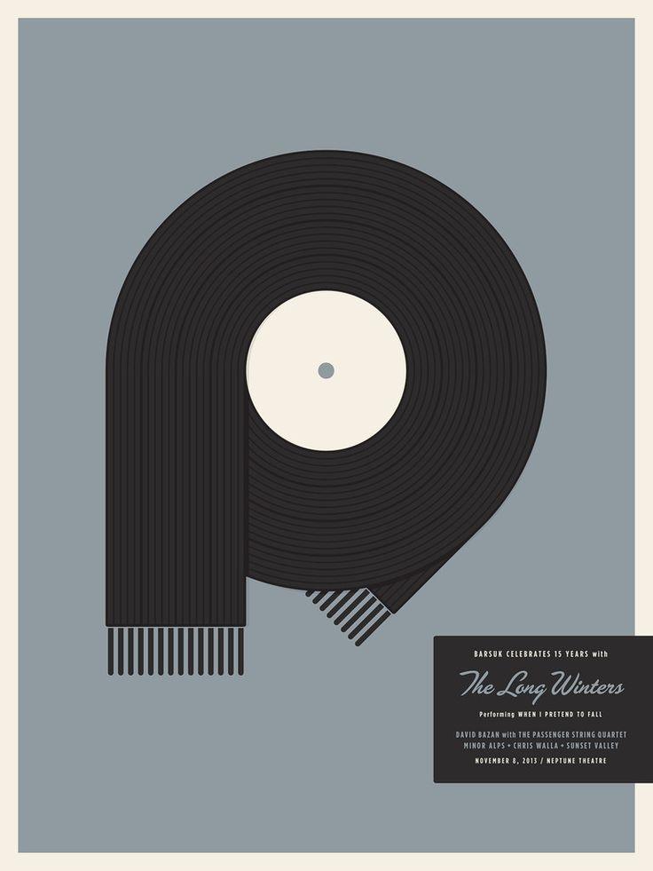 Barsuk 15 - The Long Winters Poster by Jason Munn