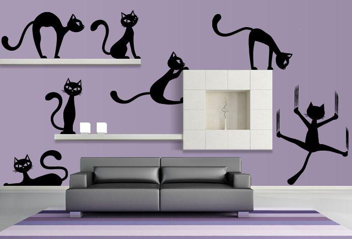 Samolepky na zeď kočky 1 - TK Samolepky