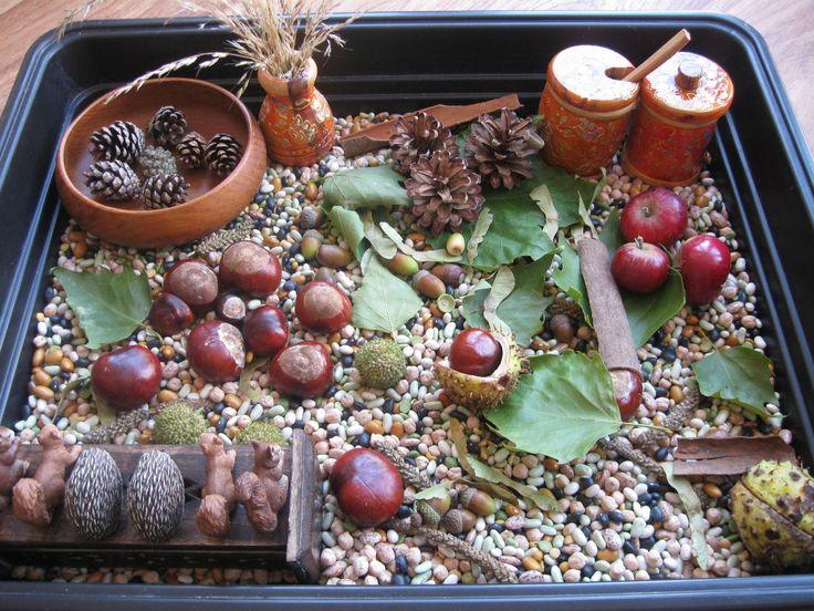 Autumn sensory table ≈≈