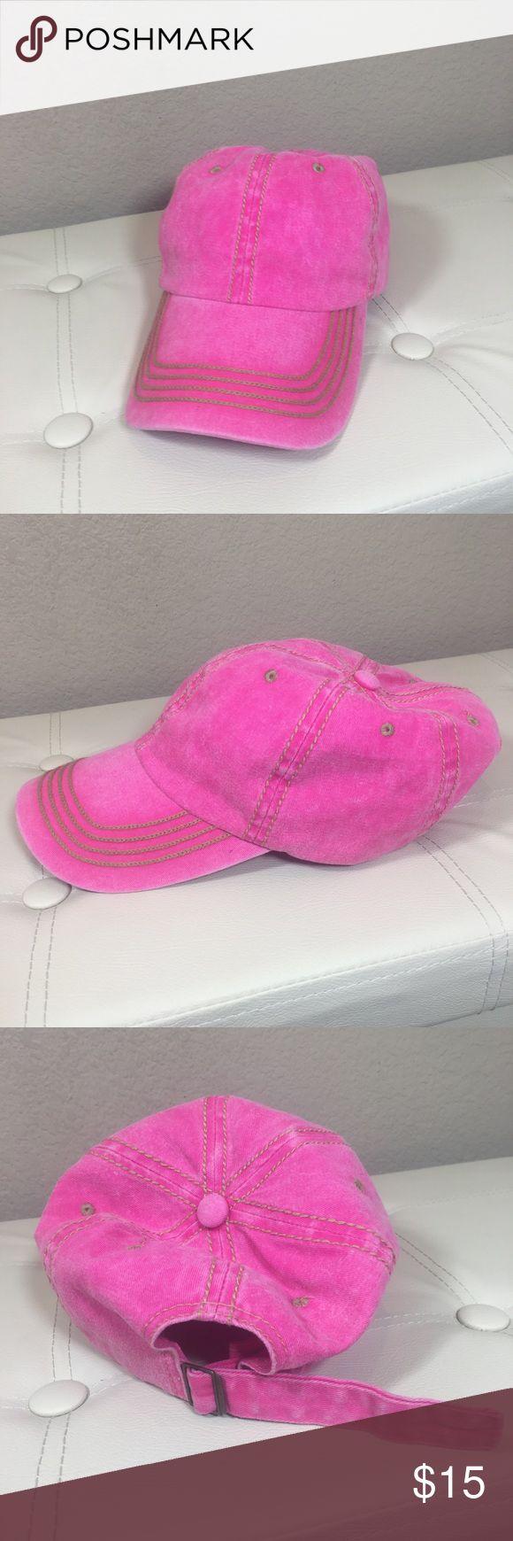(Miroco) Hot Pink Baseball Cap-Excellent Condition Hot pink women's baseball cap. Adjustable back strap. Brand is miroco. No trades  -- PO DRAWER  #baseballcap #cap #hat Accessories Hats