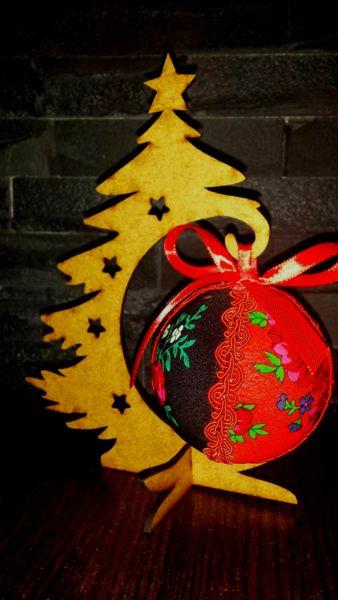 Bombki bombka świąteczna ludowa, góralska święta - studs - Boże Narodzenie