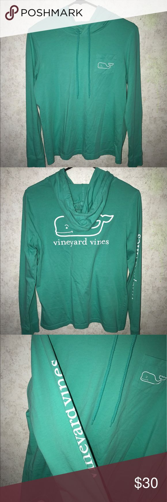 Vineyard Vines Thin Hoodie Excellent condition. Bought and never worn! No stains, holes or piling! Photos posted with and without the flash to show the color. Vineyard Vines Tops Sweatshirts & Hoodies