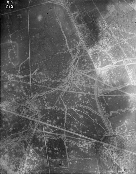 Apr 16 1916 British Aerial photography KX720 KX722 KX712 Plotting reference: 28J 13d 19b