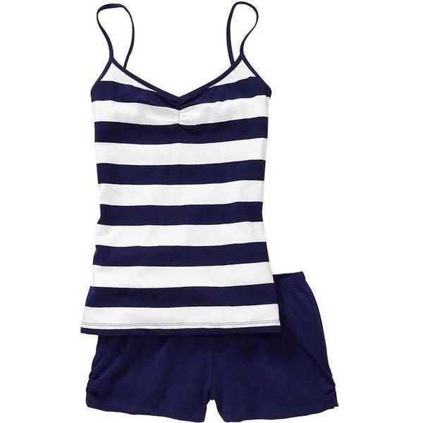 Old Navy Womens Tank & Short Pajama Set ($10) found on Polyvore