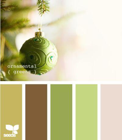 Ornamental Greens: Green Color, Color Palettes, Design Seeds, Color Schemes, Color Combos, Colors, Natural Color Living Rooms, Ornaments Green, Rooms Color